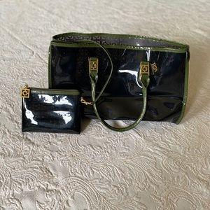 Trina Turk Medium translucent tote bag purse black